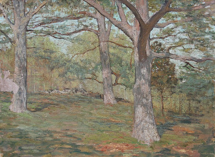 Allen Butler Talcott ,   The Oaks      oil on canvas ,  18