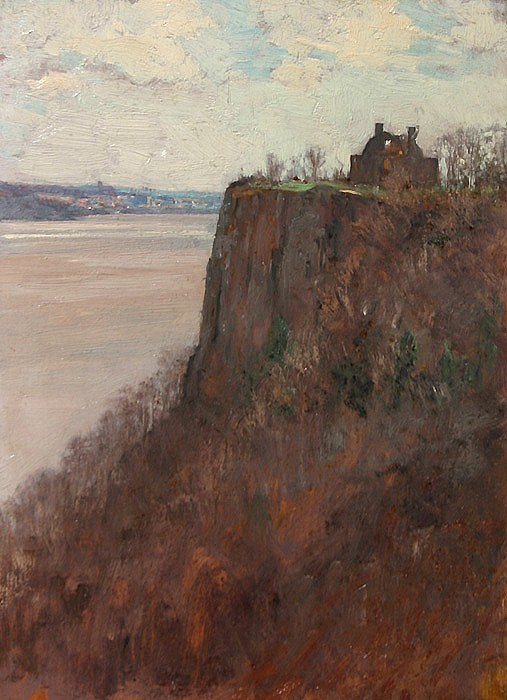 Allen Butler Talcott ,   Home on the Palisades      oil on panel ,  16