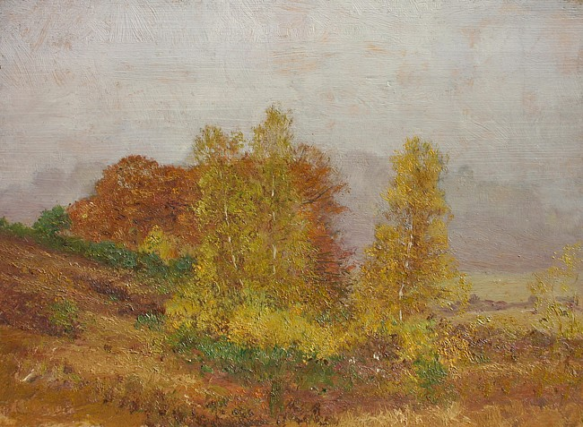 Allen Butler Talcott ,   Birch Grove      oil on panel ,  12
