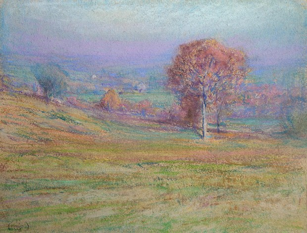 Henry Cooke White ,   Autumn Mists      pastel on paper ,  9