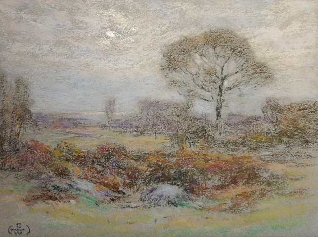 Henry Cooke White ,   An Autumn Moon      pastel on paper ,  8 7/8