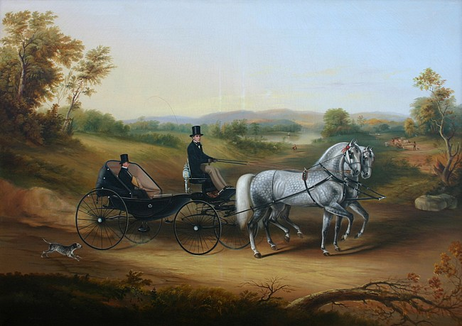 Thomas Kirby Van Zandt ,   Gentleman's Ride, Outside Albany  ,  1858     oil on canvas ,  39