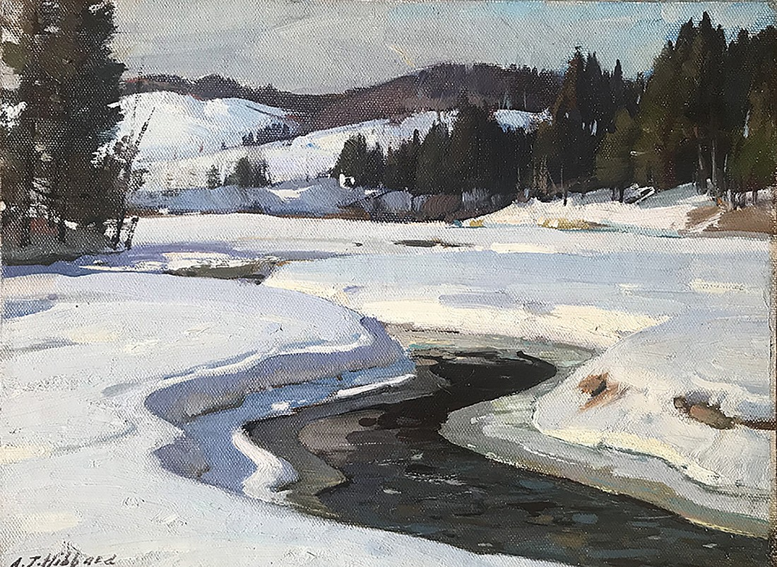 Aldro T. Hibbard ,   Winter Day, Vermont      oil on canvas laid on board ,  9