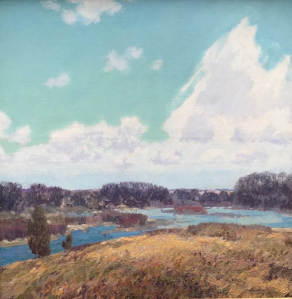 Lawrence Mazzanovich ,   Clouds Over Westport      oil on canvas ,  25 1/4