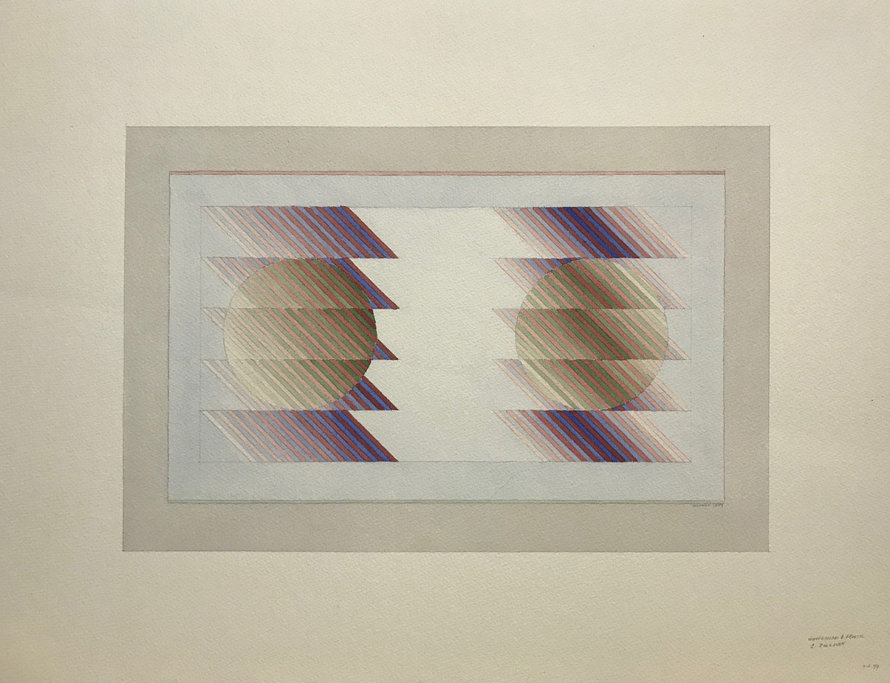 Sewell Sillman ,   Untitled (Purples, Pinks and Mauves)      watercolor and pencil ,  Sheet: 18