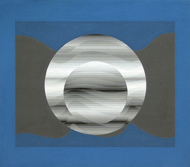 Sewell Sillman ,   Nascent Orb #1      acrylic on masonite on plywood ,  32