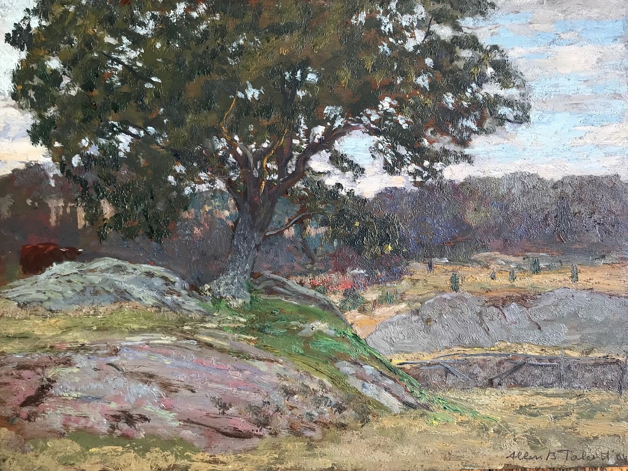 Allen Butler Talcott ,   Rocky Pasture  ,  1904     oil on panel ,  12
