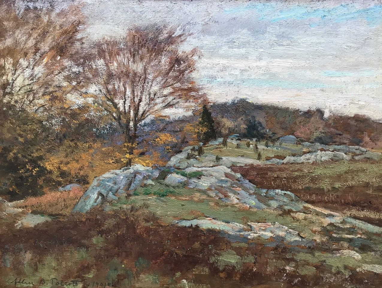 Allen Butler Talcott ,   Late Summer Pastures      oil on panel ,  12