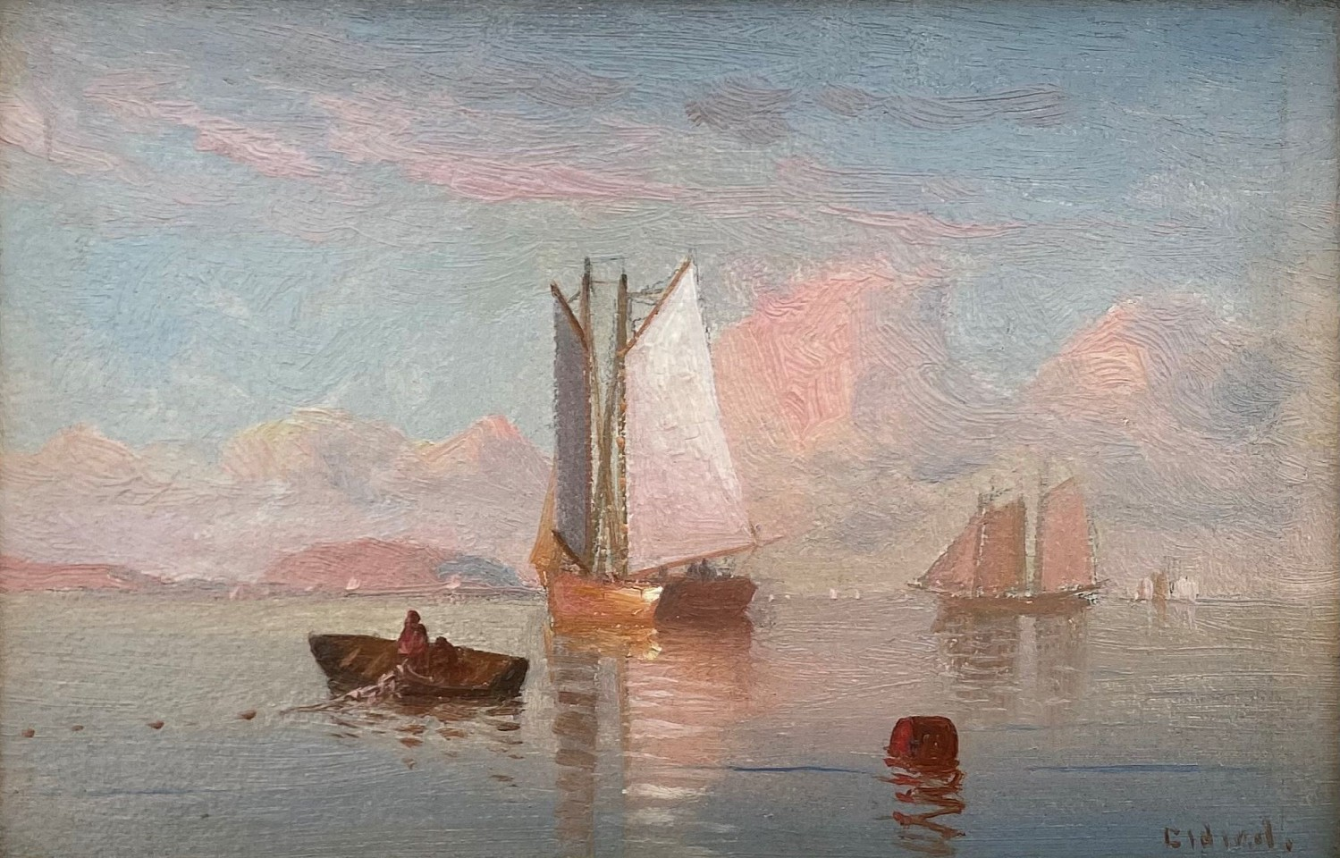 Lemuel D. Eldred ,   The Calm      oil on board ,  4